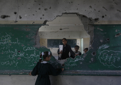 cole de Gaza bombardée par Israël