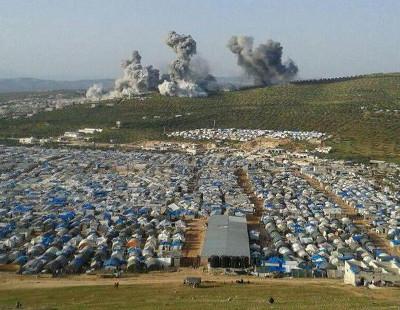 Syrie - réfugiés et bombardements occidentaux