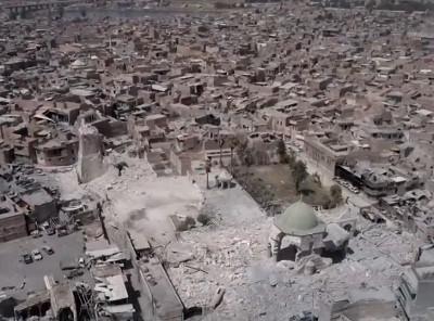Destructions dans la ville de Mossoul - Capture vidéo