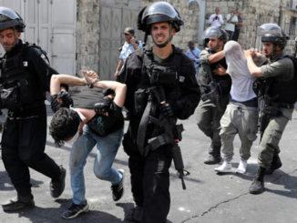 Enlèvement d'un jeune palestinien par les troupes d'occupation -Photo : Addameer.org
