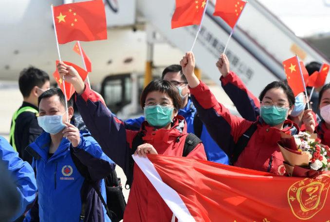 Une équipe médicale envoyée en renfort à Wuhan rentre chez elle, dans la province de l'Anhui - Photo : réseaux sociaux